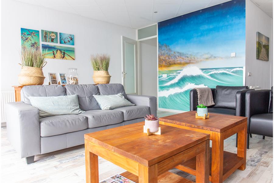 Surfhut woonkamer