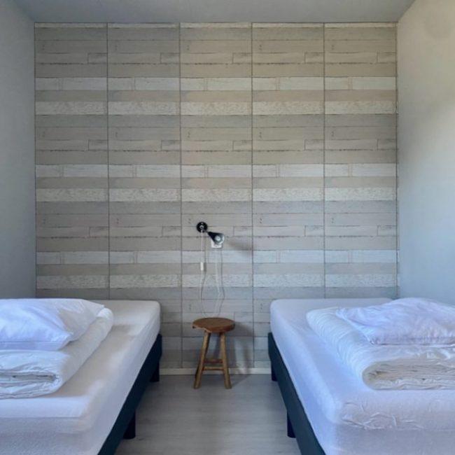 Strandhut slaapkamer